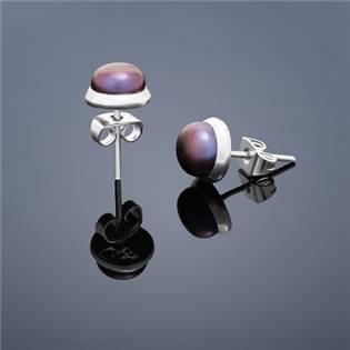 Perlové náušnice Buka , malé - fialové perly