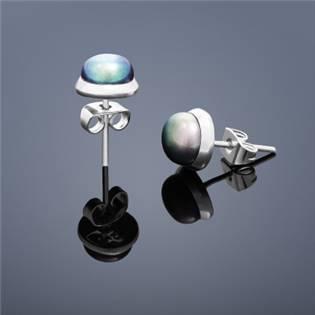Perlové náušnice Buka , malé - svetlo modré perly