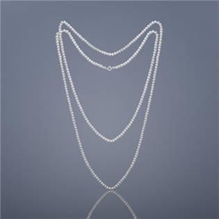 Dvojitý perlový náhrdelník Buka mini Cleopatra - biele perly