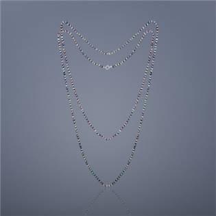 Dvojitý perlový náhrdelník Buka mini Cleopatra - čierne perly