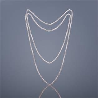 Dvojitý perlový náhrdelník Buka mini Cleopatra - ružové perly