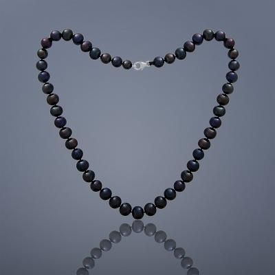 Perlový náhrdelník Buka Mutiara - veľké čierne perly