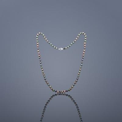Perlový náhrdelník Buka Mutiara - čierne perly