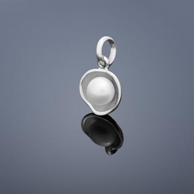 Perlový prívesok Buka Lotus - biela perla
