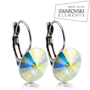 Oceľové náušnice RIVOLI 12 mm, SWAROVSKI® Elements , AB