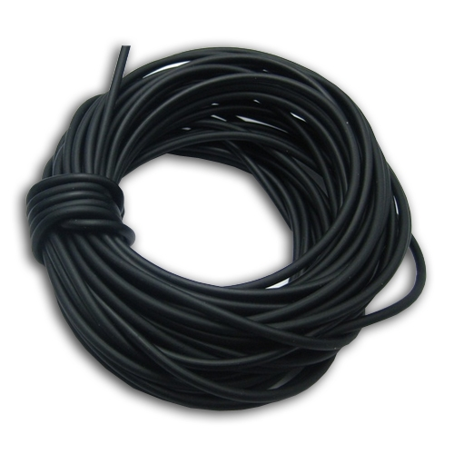Kaučuková šnúrka okrúhla čierna, hr. 2 mm