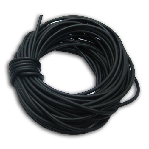 Kaučuková šnúrka okrúhla čierna, hr. 3 mm