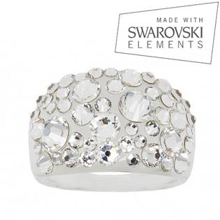 Prsteň SWAROVSKI® Elements - Crystal