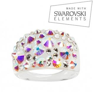 Prsteň SWAROVSKI® Elements - Crystal AB