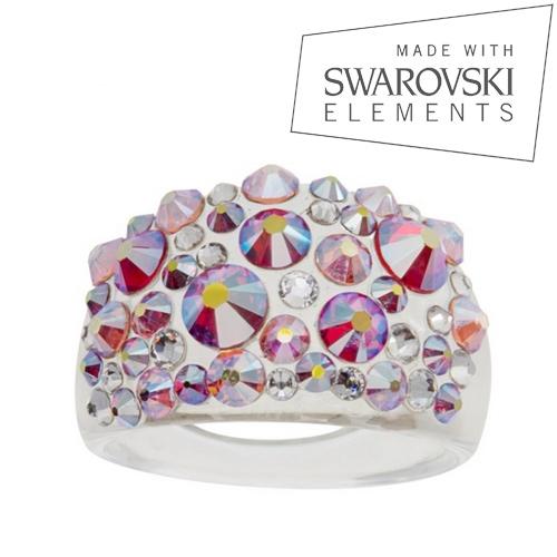 Prsteň s kryštálmi Crystals from Swarovski ®, Glacier