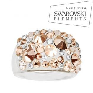 Prsten s krystaly Crystals from Swarovski®, Gold