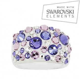 Prsten s krystaly Crystals from Swarovski®, Tanzanite