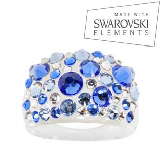 Prsteň SWAROVSKI® Elements - Sapphire