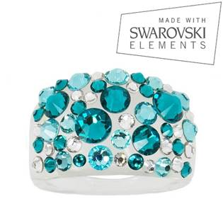 Prsteň SWAROVSKI® Elements - Blue Zircon