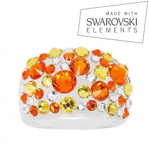 Prsteň s kryštálmi Crystals from Swarovski ®, Sun