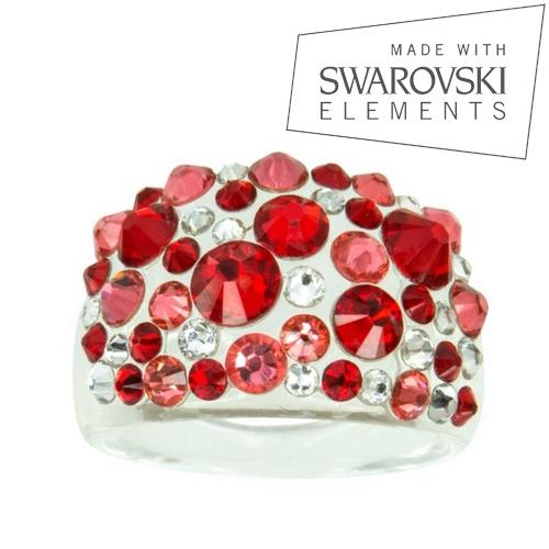 Prsteň s kryštálmi Crystals from Swarovski ®, Siam