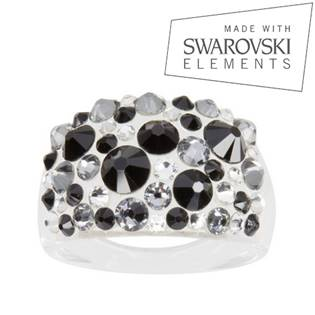 Prsteň SWAROVSKI® Elements - Jet