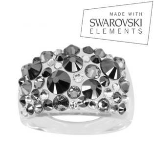 Prsten s krystaly Crystals from Swarovski®, Hematite