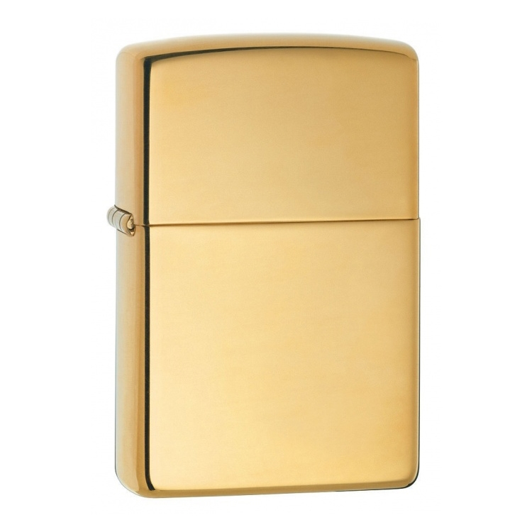 ZIPPO zapalovač High Polished Brass 24002