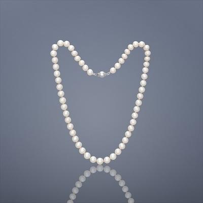 Perlový náhrdelník Buka Mutiara AAA - biele perly