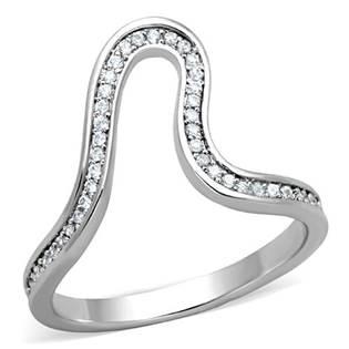 Asymetrický prsten zdobený zirkony