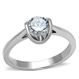 Oceľový prsteň zdobený zirkónom
