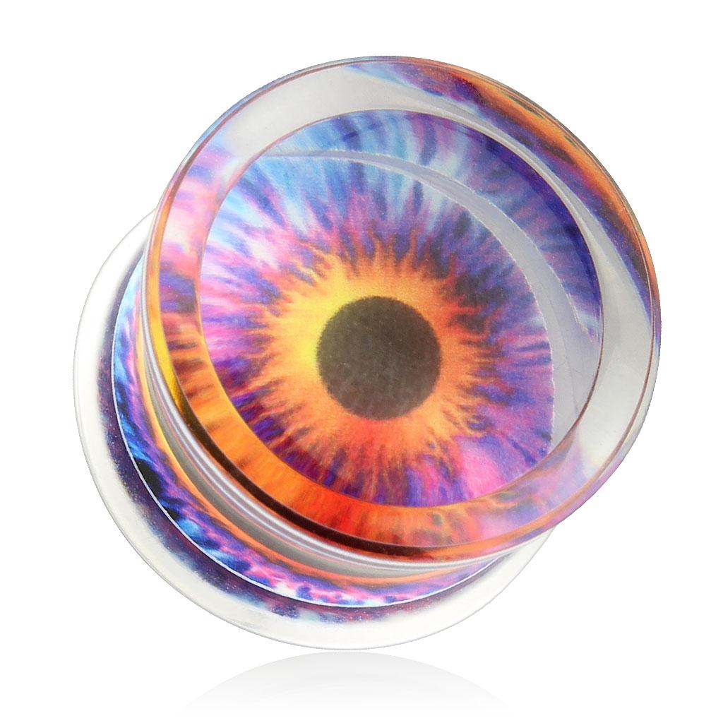 Akrylátový plug do ucha - oko