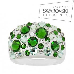Prsteň SWAROVSKI® Elements - Green