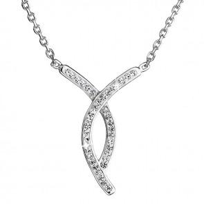 Strieborný náhrdelník s kryštálmi Crystals from Swarovski ®
