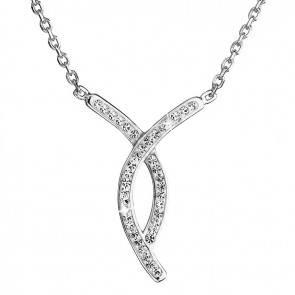 Strieborný náhrdelník, Swarovski ® Elements