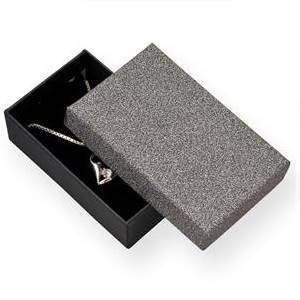 Dárková krabička stříbřitě šedá/černá