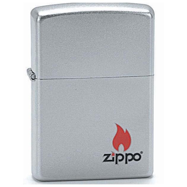ZIPPO Logo - benzínový zapalovač matný 20199