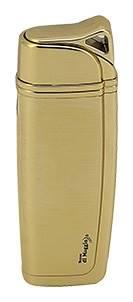 Plynový zapalovač Lucca di Maggio zlatý oblý dárkové balení