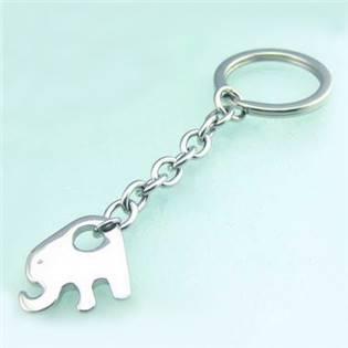Oceľový prívesok na kľúče - slon