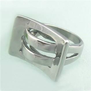 Extravagantný oceľový prsteň