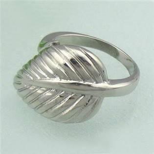 Dámsky oceľový prsteň - list