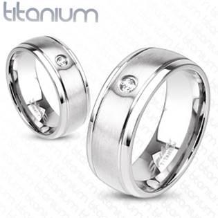 TT1020 Pánský snubní prsten titan šíře 8 mm