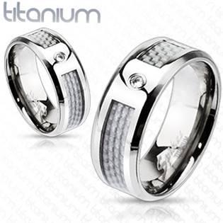 TT1033 Dámský snubní prsten titan šíře 6 mm
