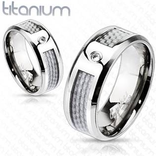 TT1003 Pánský snubní prsten titan šíře 8 mm