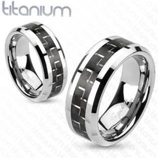 TT1037 Pánský snubní prsten titan šíře 8 mm