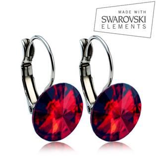 Oceľové náušnice RIVOLI 12 mm, SWAROVSKI® Elements , Siam