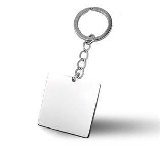Oceľový prívesok na kľúče - štvorcová doštička