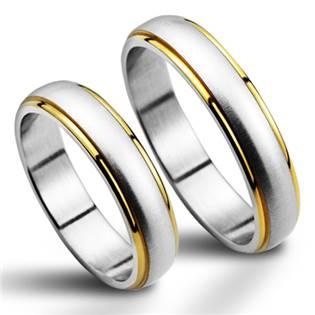 Snubní prsten z chirurgické oceli NSS1020