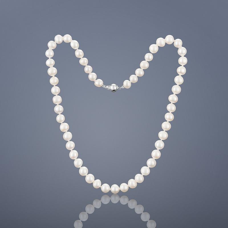 Perlový náhrdelník Buka Mutiara - biele perly