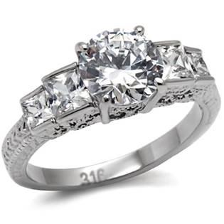 Ocelový prsten se zirkony OPR1553