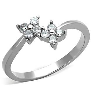 Oceľový prsteň s kvetinkami