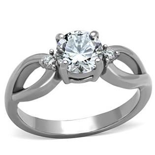 Oceľový prsteň s 3-mi zirkónmi
