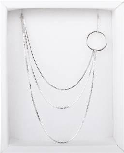 Strieborný náhrdelník trojitý