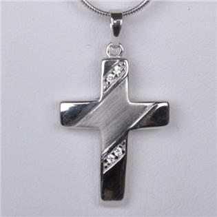 Strieborný prívesok krížik