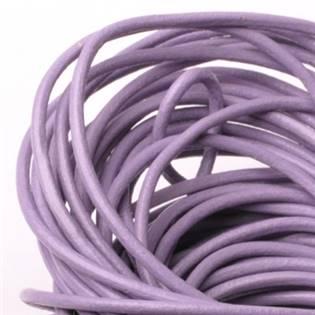 Kožená šňůrka kulatá lila fialová, tl. 2 mm